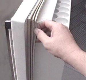 Ремонт уплотнительной резинки на холодильнике